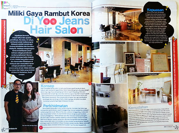 'KLIK' Magazine - Yoo Jean Hair Salon