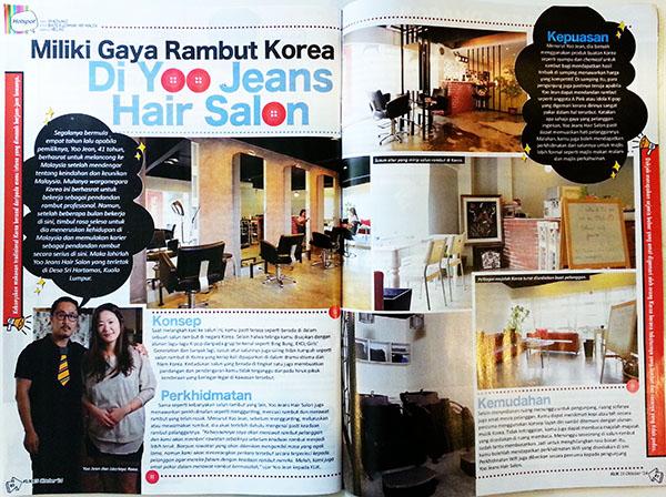 'KLIK' Magazine - Yoo Jean Hair Salon