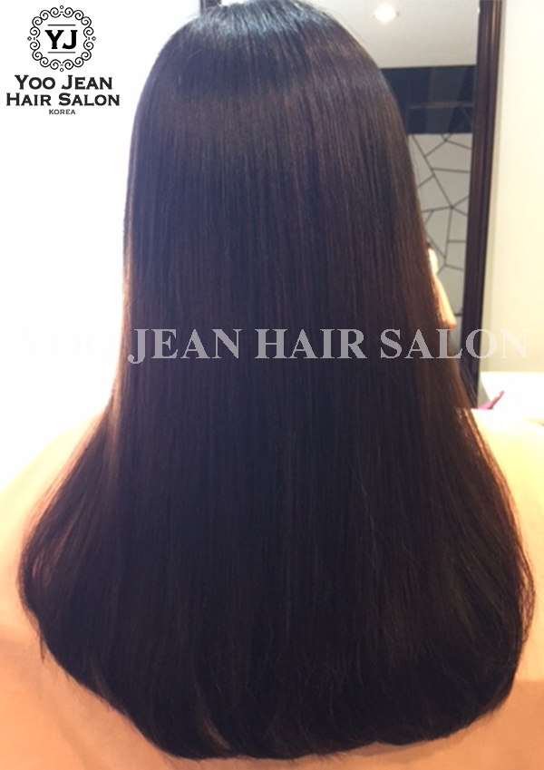 Volume Rebonding on natural curly hair