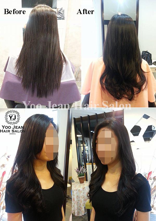 Digital Perm on straight hair