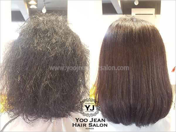 Rebonding + Iron Perm for Indian Curly Hair