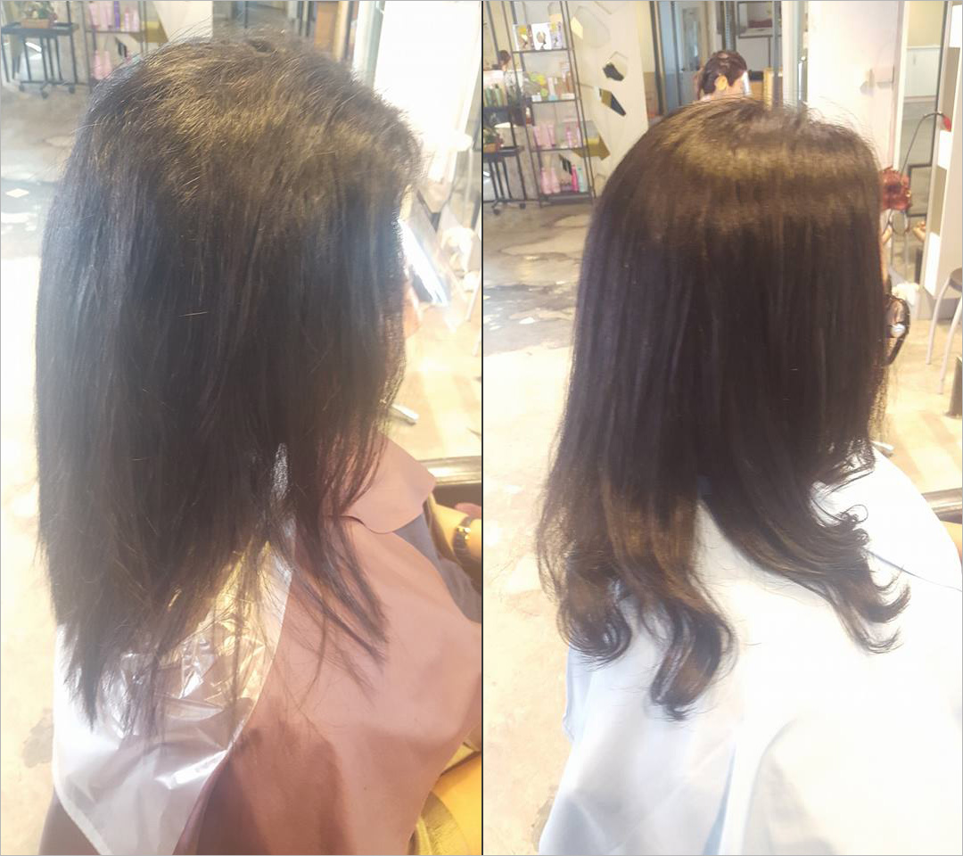 Digital wavy rebonding
